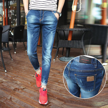 Summer Korean Men Jeans [6528728835]