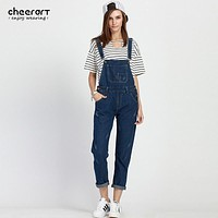 Plus Size 5XL Summer Jumpsuit Denim Overalls For Women Rompers Blue Jeans Coveralls Rompers And Jumpsuits 2016 European Style