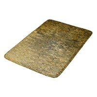 Gold waves rhythmic pattern bath mat