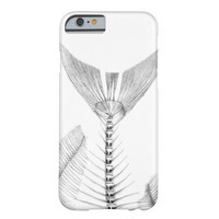 Vintage fish skeleton etching barely there iPhone 6 case