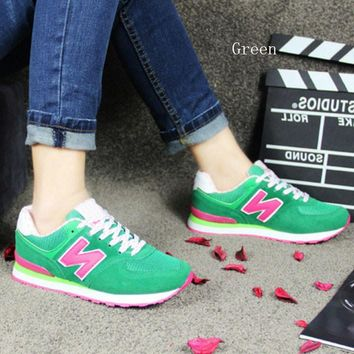 new balance running shoes leisure shoes gump sneakers lovers shoes n words green