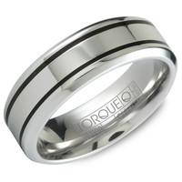 Double Groove Cobalt 7mm Wedding Band Steven Singer Jewelers