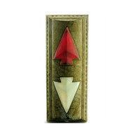 Going Up Antique Elevator Up Down Arrow Indicator Light Vintage Industrial Bronze White Red Glass