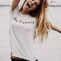 California graphic t-shirt (brandy melville inspired)