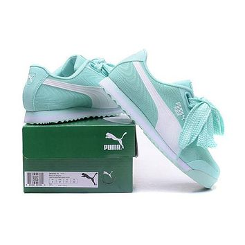 PUMA Roma TK Graphic Newest Fashion Women Casual Bow Running Sport Shoes Sneakers Light Green I/A