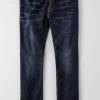 AEO Men's Slim Straight Extreme Flex Jean (Dark Rich Indigo)