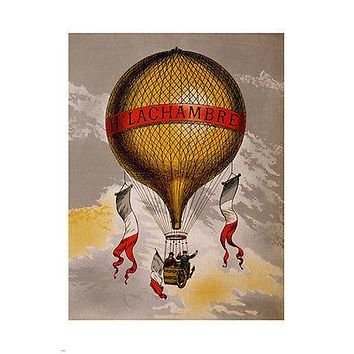 LACHAMBRE hot air balloon VINTAGE poster 24X36 classic TRAVEL hot