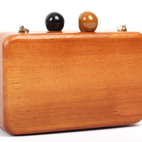 Milanblocks Custom Made Wooden Evening Clutch