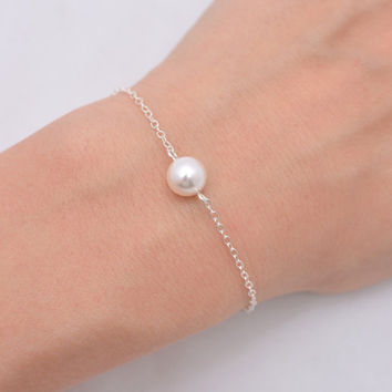 bracelet Simple pearl bracelet imitation pearl Bead Gold Chain Bracelets For Women  SH006