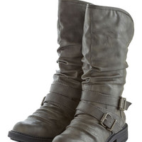 ModCloth Lining Up Boot in Silver Grey
