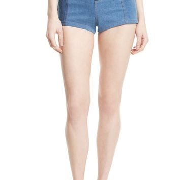 Free People High & Tight Patchwork Denim Shorts | Nordstrom