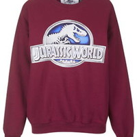 Jurassic World Sweatshirt By Tee and Cake - Red