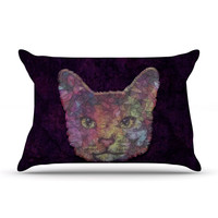 "Ancello ""Rainbow Cat"" Pastel Purple Pillow Sham"