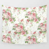 SOUTHERN BELLE FLORAL Wall Tapestry by Madisyn Nicole