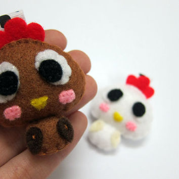 Cute Chicken Keychain/Ornament, Magnet - Abigail, Lucy