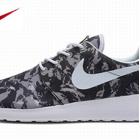 Grey Camo Nike Roshe Running Shoes