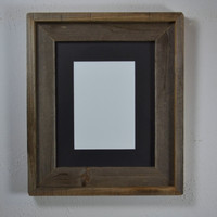 8x10 wood picture frame complete with 5x7 or 8x6 black mat