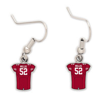 Patrick Willis San Francisco 49ers WinCraft Women's Player Dangle Earrings - http://www.shareasale.com/m-pr.cfm?merchantID=39288&userID=1042934&productID=549290155 / San Francisco 49ers