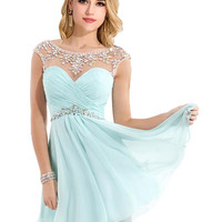 Real Photos Short Homecoming Dresses See Through Neck with Beading Backless Chiffon Prom Dress Graduation Dress Vestidos