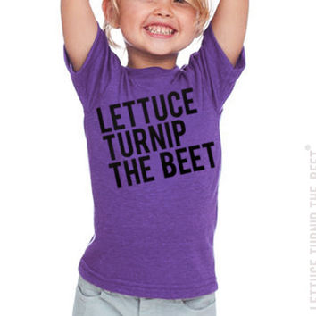 lettuce turnip the beet ® - toddler 2T, 4T, or 6 - purple heather