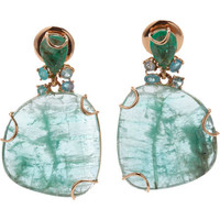 Federica Rettore Emerald & Paraiba Tourmaline Earrings