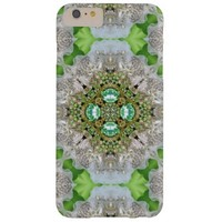 girly Silver pearl green faux Diamond bling iPhone 6 Plus Case