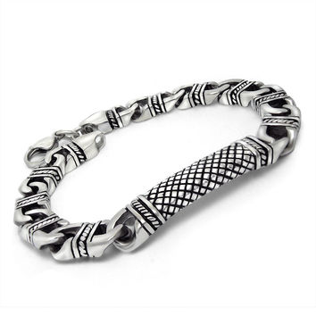 Hot Sale Stylish Gift New Arrival Awesome Great Deal Shiny Lucky Titanium Stainless Steel Vintage Jewelry Colourfast Bracelet [6542703619]