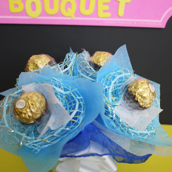 Wedding centerpiece/decoration! 4 Ferrero Rocher Chocolate Flower in a Vase