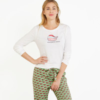 Women's T-Shirts: Santa Hat Whale Tee for Women - Vineyard Vines