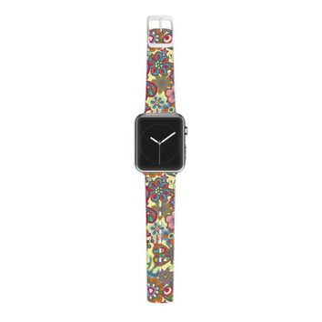 Kess InHouse Julia Grifol 38mm Apple Watch Strap - Non-Retail Packaging - My Butterflies and Flowers In Yellow