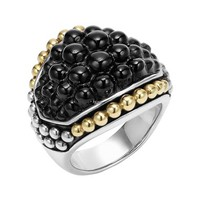 Women's LAGOS 'Black Caviar' Dome Ring - Silver/ Gold/ Onyx