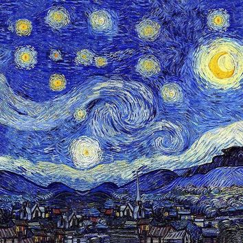 'A Starry Night Inspiration Van Gogh Products' by Angelinas