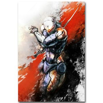 Metal Gear Solid V The Phantom Pain Art Silk Fabric Poster Print 13x20 24x36inch Gray Fox Game Picture for Room Wall Decor 12