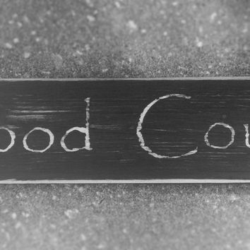 FOOD COURT (Choose Color) Rustic Shabby Chic Kitchen Sign