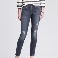 Banana Republic Womens Distressed Wash Skinny Ankle Jean