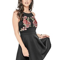 Christine Embroidered Skater Dress at Guess