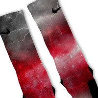 Red Storm Customized Nike Elite Socks