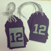 Seahawks Inspired Gift Tags, Seahawks Christmas Tags, Seahawks Gift Tags, 12th Man Gift Tags, 12th Man Christmas Gift Tags, Seattle Seahawks