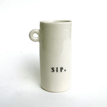 $22.00 hand built porcelain cup sip by lynswan on Etsy