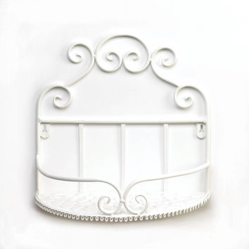White Iron Wall Shelf