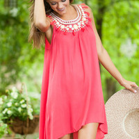 From the Top Dress, Dark Coral