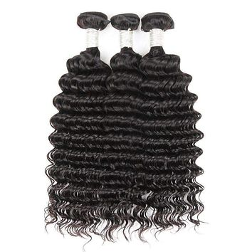 Malaysian Curly Weave Human Hair Remy 3 & 4 Bundles Deal