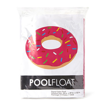 FOREVER 21 Sprinkled Donut Pool Float Pink/Cream One