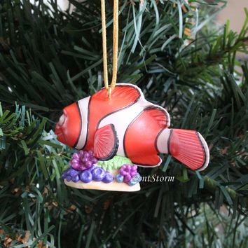 Licensed cool 2016 Custom Disney Nemo Finding Dory MARLIN Clown Fish Christmas Ornament PVC