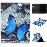 Blue Butterfly Leather Case Wallet for iPad Pro 12.9