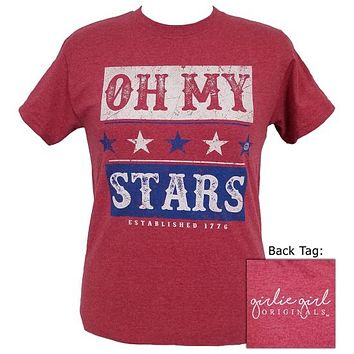Girlie Girl Originals Oh My Stars USA T-Shirt