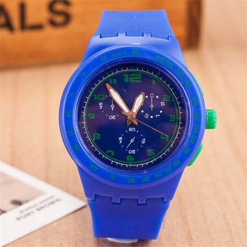 Fashion Womens Mens Minimalist Jelly Band Strap Sports Watch Best Gift watches-439