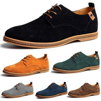 Leather Oxfords Wing Tip Shoes