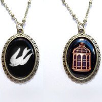 Bioshock Infinite Bird/Cage Necklace by leagueofshadows on Etsy