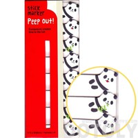 Panda Bear Shaped Memo Post-it Peek Out Sticky Tabs | Animal Themed Stationery